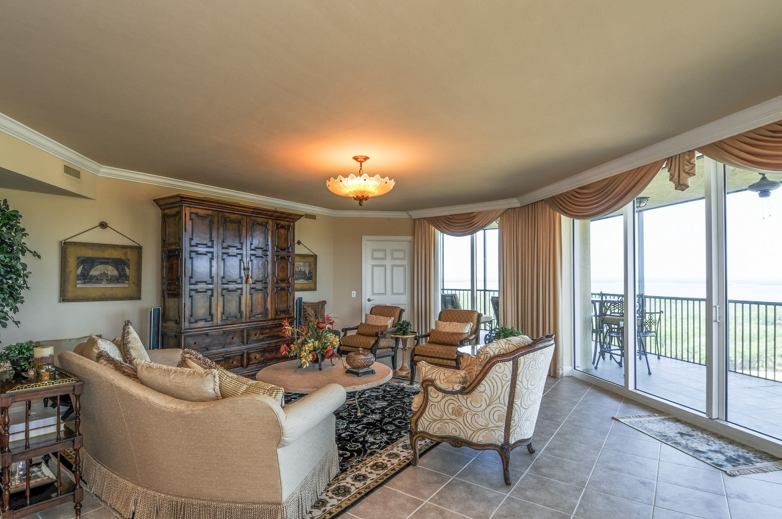 Real Estate Photography - 23540 Via Veneto, Unit 1705, Bonita Springs, FL, 34134 - Living Room