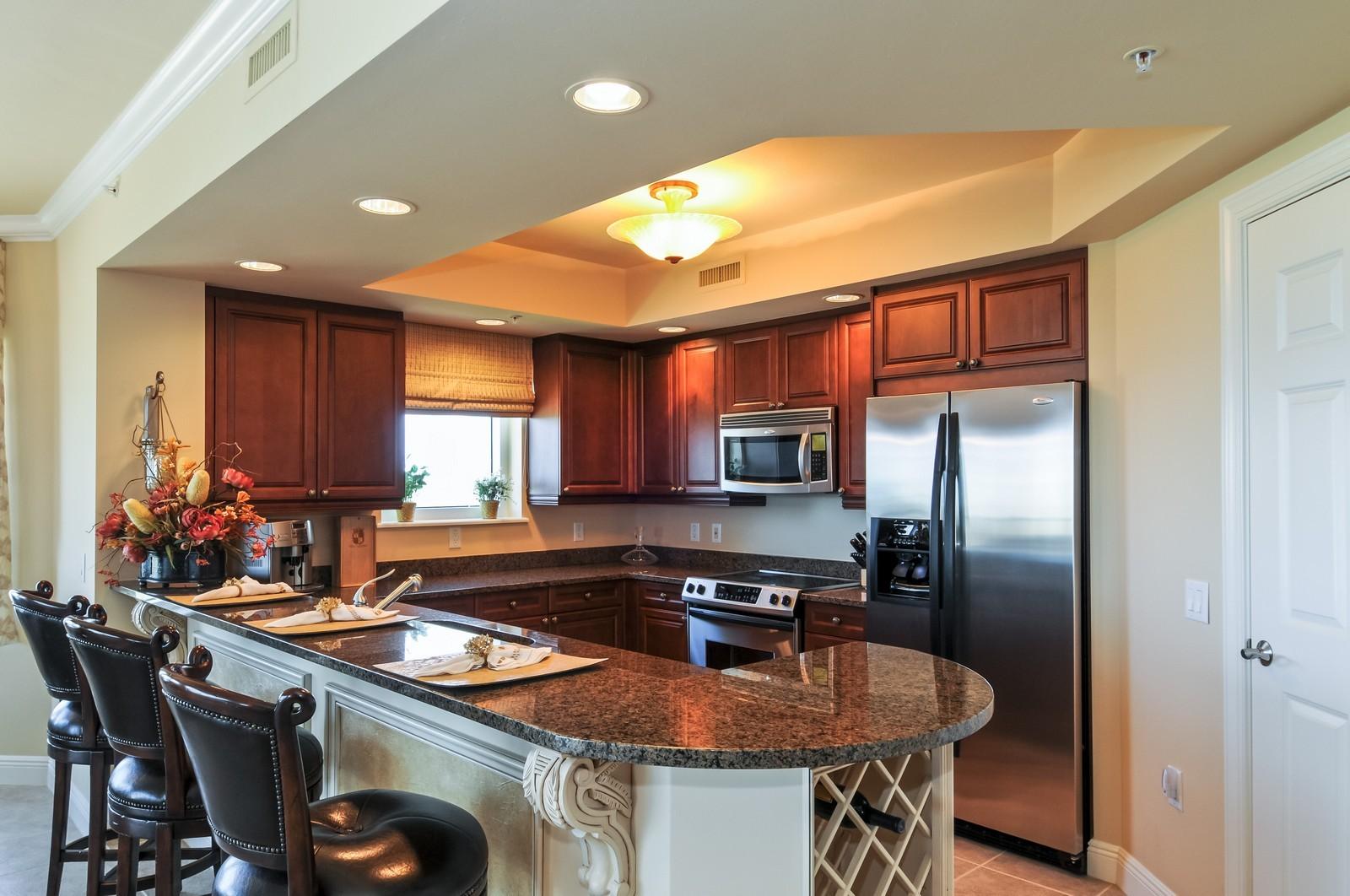 Real Estate Photography - 23540 Via Veneto, Unit 1705, Bonita Springs, FL, 34134 - Kitchen