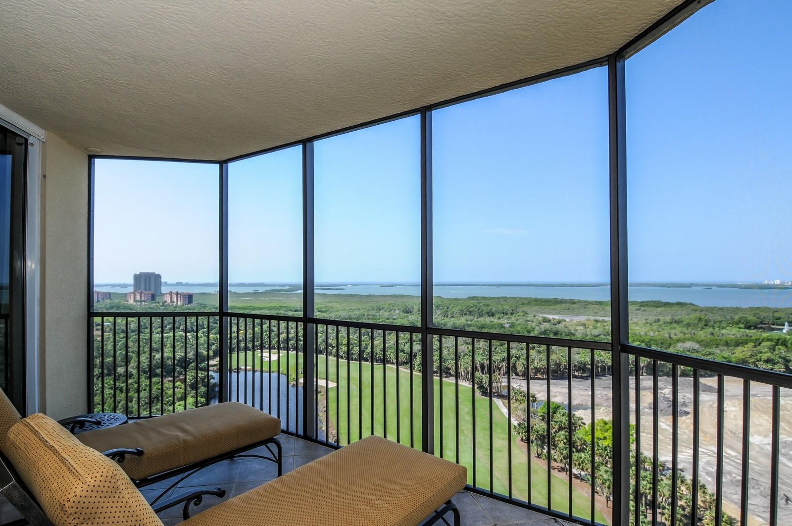Real Estate Photography - 23540 Via Veneto, Unit 1705, Bonita Springs, FL, 34134 - Lanai