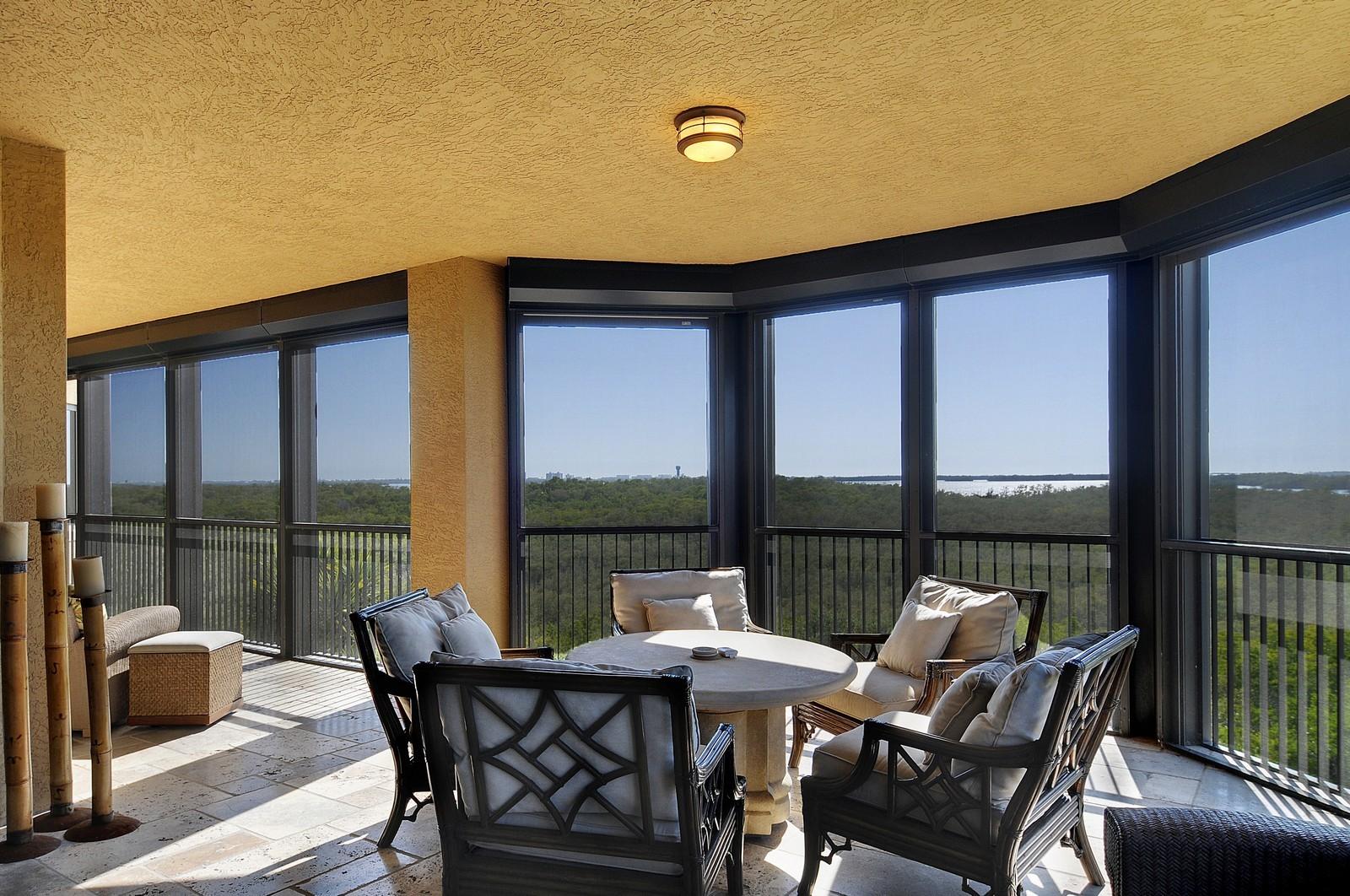 Real Estate Photography - 4875 Pelican Colony Blvd, Unit 304, Bonita Springs, FL, 34134 - Lanai