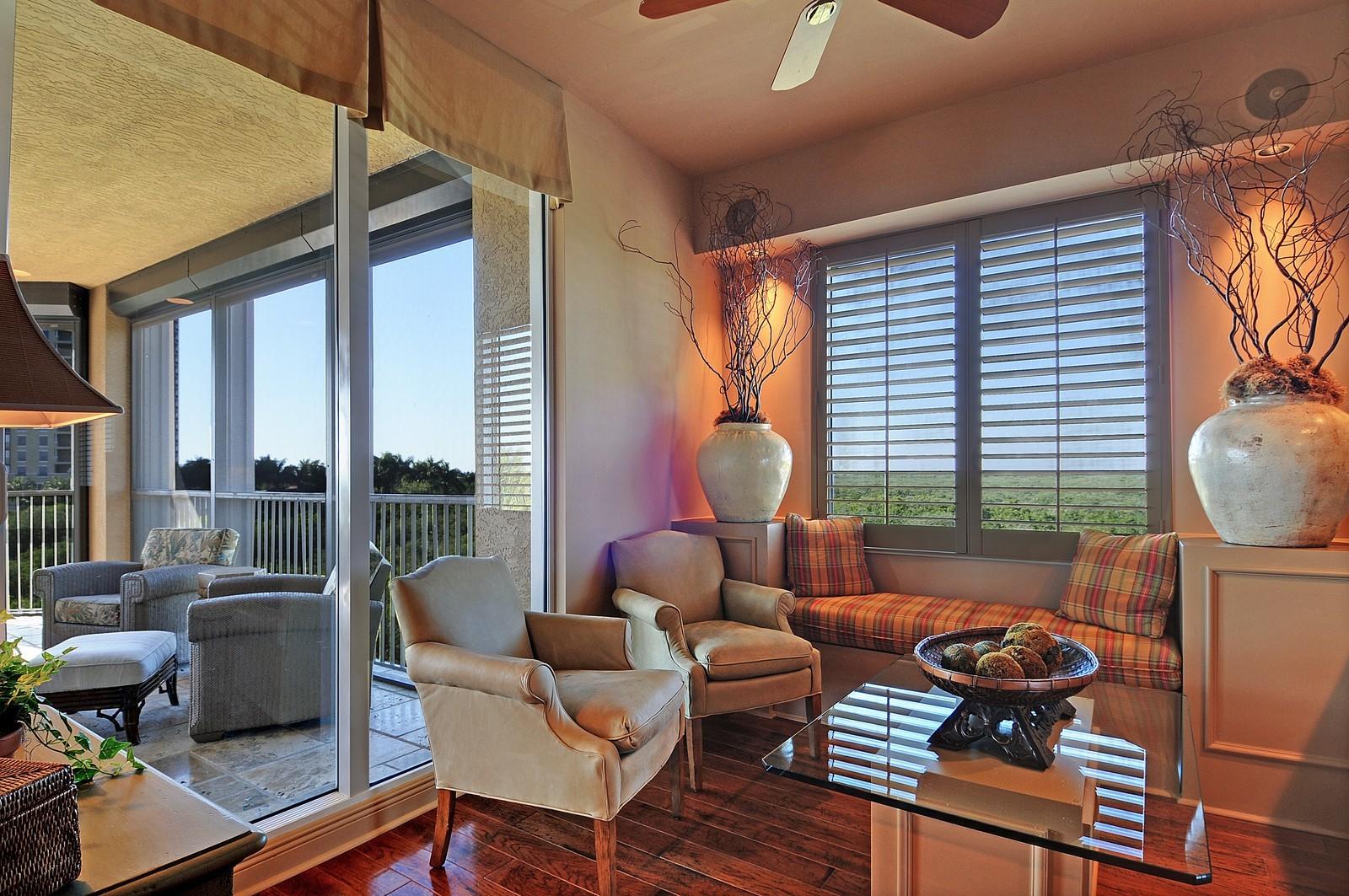 Real Estate Photography - 4875 Pelican Colony Blvd, Unit 304, Bonita Springs, FL, 34134 - Breakfast Nook