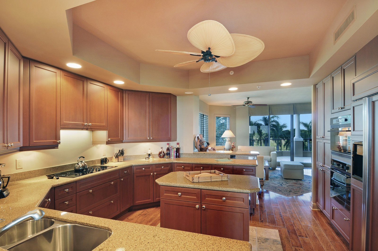 Real Estate Photography - 4875 Pelican Colony Blvd, Unit 304, Bonita Springs, FL, 34134 - Family Room / Kitchen