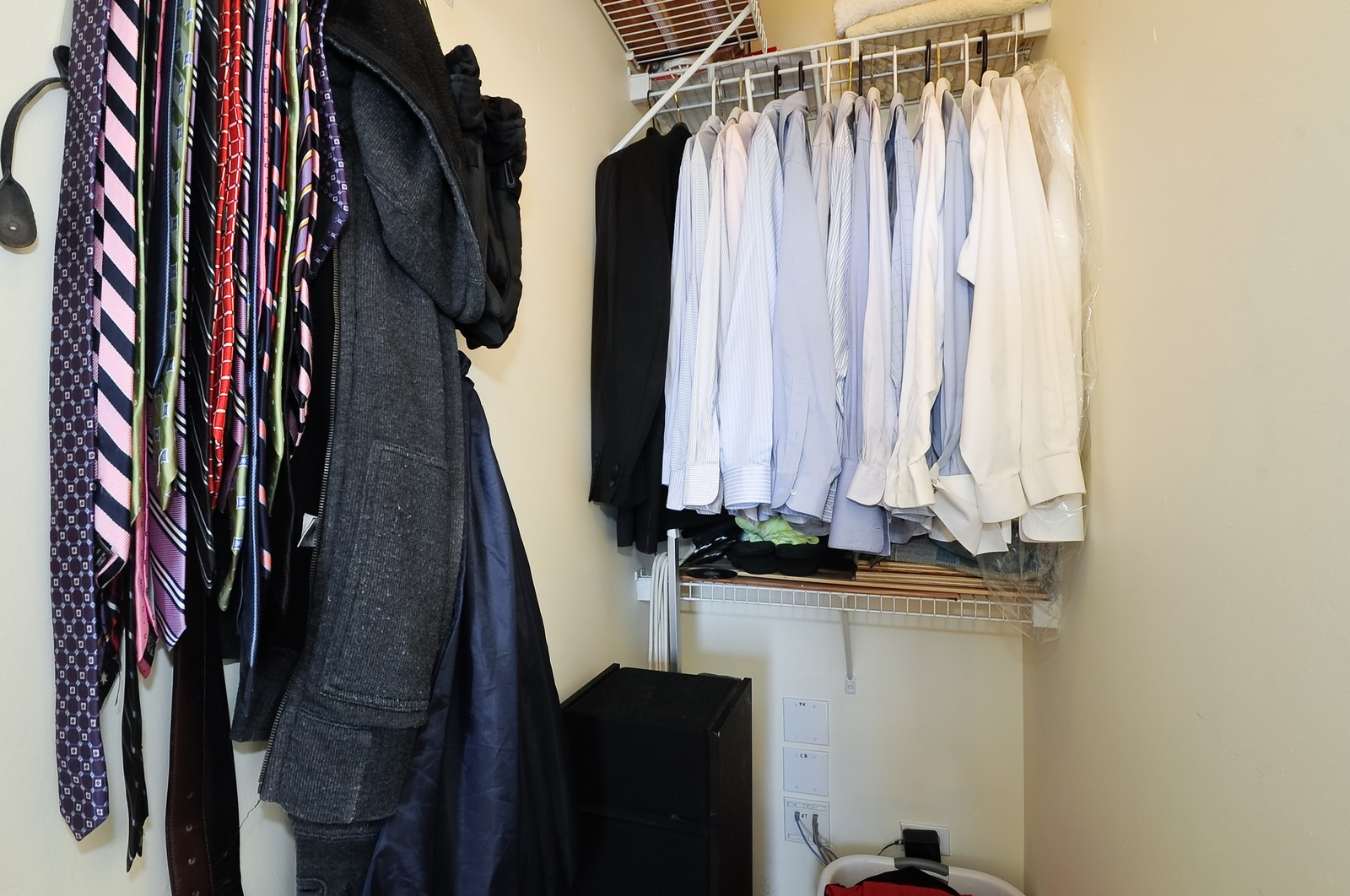 Real Estate Photography - 4630 North Beacon, #4B, Chicago, IL, 60640 - Master Bedroom Closet