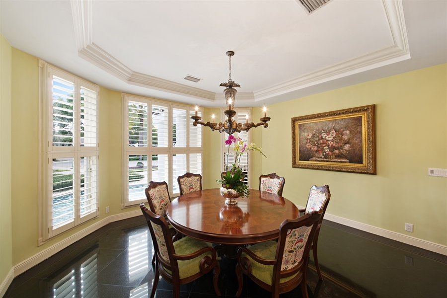 Real Estate Photography - 4305 NW 24TH Way, Boca Raton, FL, 33431 - Dining Room