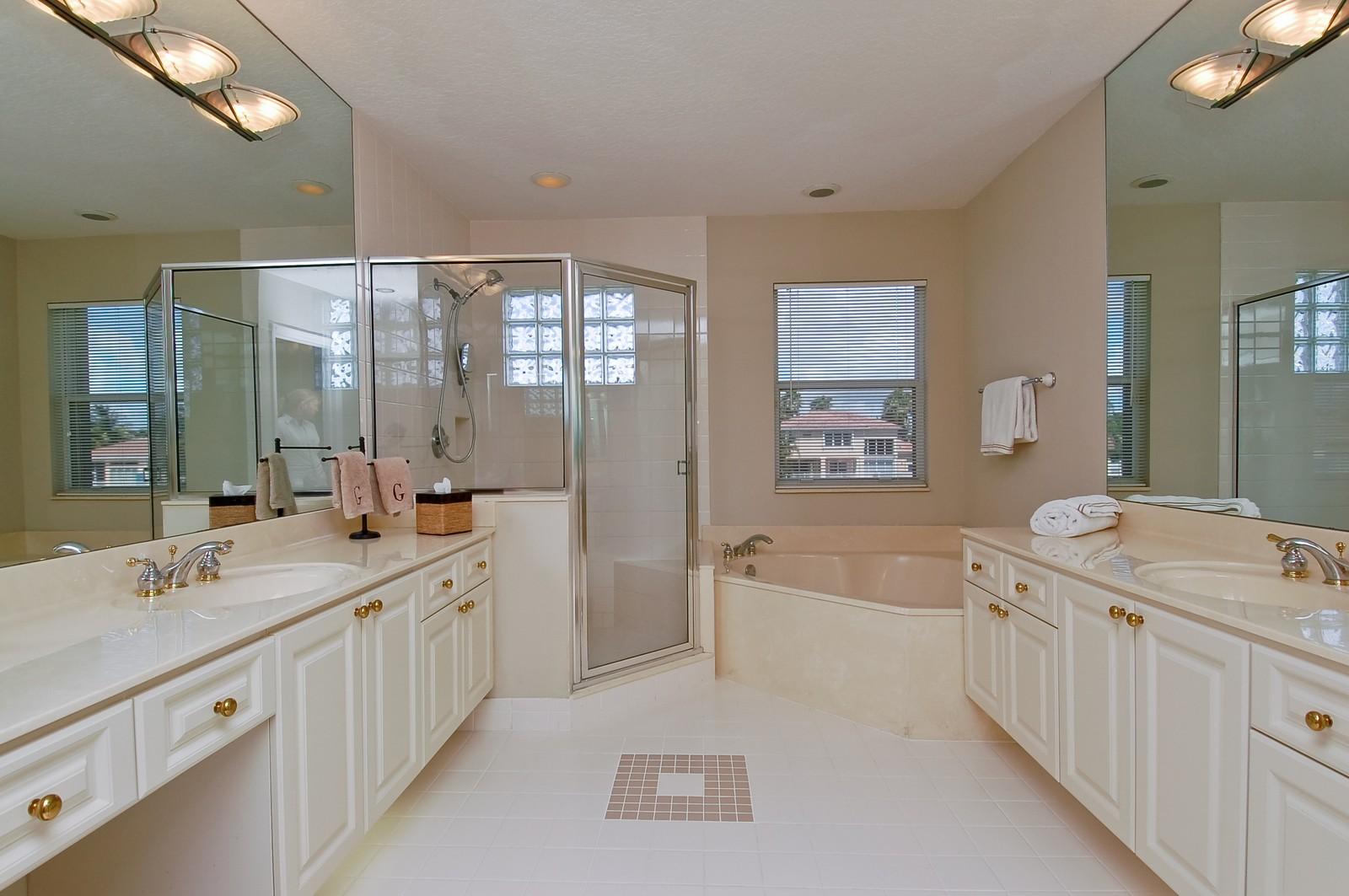 Real Estate Photography - 11308 Sea Grass Cir, Boca Raton, FL, 33498 - Master Bathroom