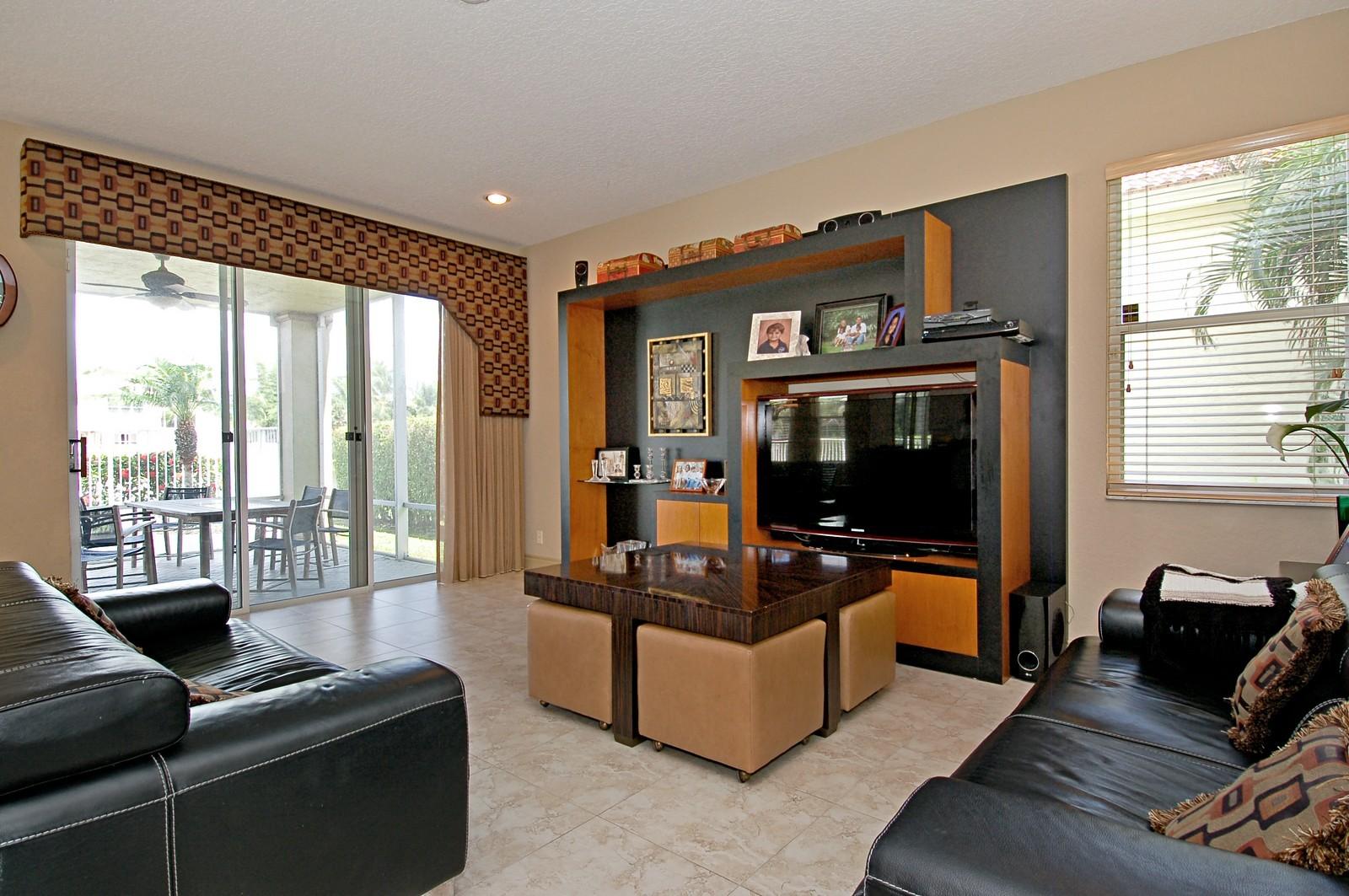 Real Estate Photography - 11308 Sea Grass Cir, Boca Raton, FL, 33498 - Family Room