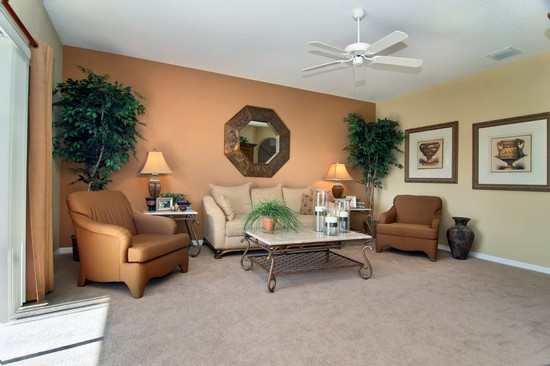 Real Estate Photography - Monaco Model, 11246 Flora Springs Dr, Riverview, FL, 33569 - Family Room