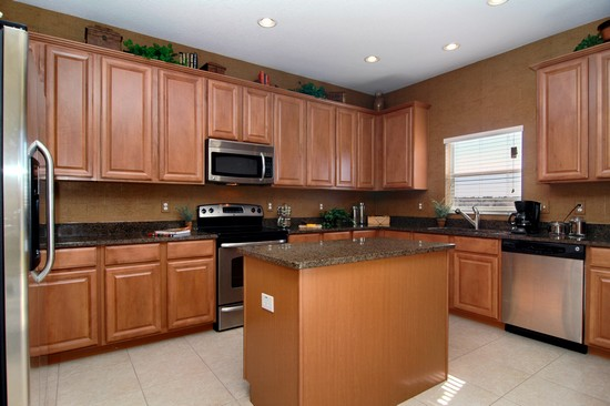 Real Estate Photography - Monaco Model, 11246 Flora Springs Dr, Riverview, FL, 33569 - Kitchen
