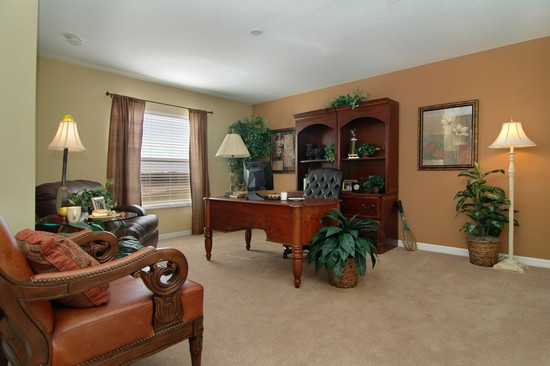 Real Estate Photography - Monaco Model, 11246 Flora Springs Dr, Riverview, FL, 33569 - Office
