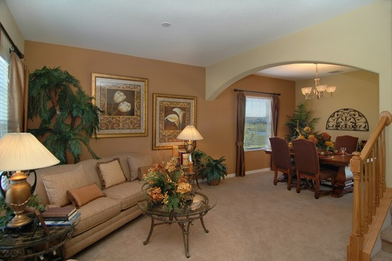 Real Estate Photography - Monaco Model, 11246 Flora Springs Dr, Riverview, FL, 33569 - Living Room / Dining Room