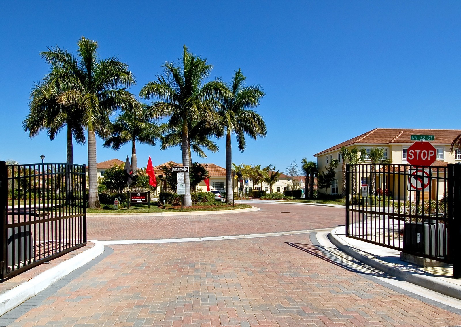 Real Estate Photography - 3169 NW 32nd St, Cayman Model, Oakland Park, FL, 33309 - Community Entrance