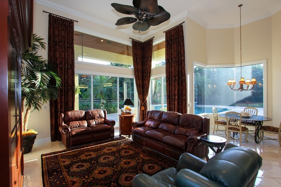 Real Estate Photography - 8725 Native Dancer, Palm Beach Gardens, FL, 33418 - Family Room