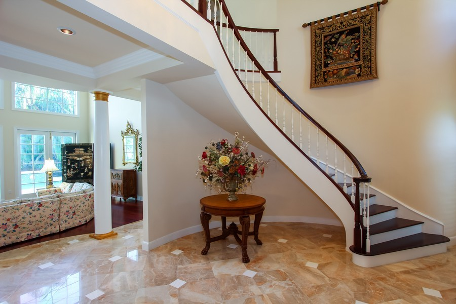 Real Estate Photography - 8725 Native Dancer, Palm Beach Gardens, FL, 33418 - Foyer