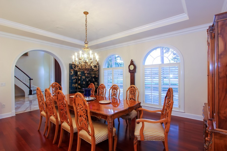 Real Estate Photography - 8725 Native Dancer, Palm Beach Gardens, FL, 33418 - Dining Area