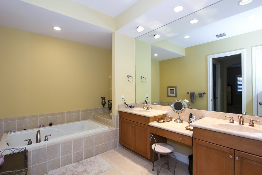 Real Estate Photography - 325 chambord terr, pbg, FL, 33408 - Master Bathroom
