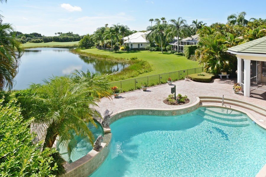 Real Estate Photography - 8533 Egret Meadow Ln, West Palm Beach, FL, 33412 - Back Yard