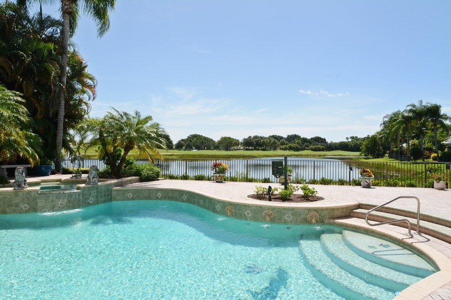 Real Estate Photography - 8533 Egret Meadow Ln, West Palm Beach, FL, 33412 - Pool