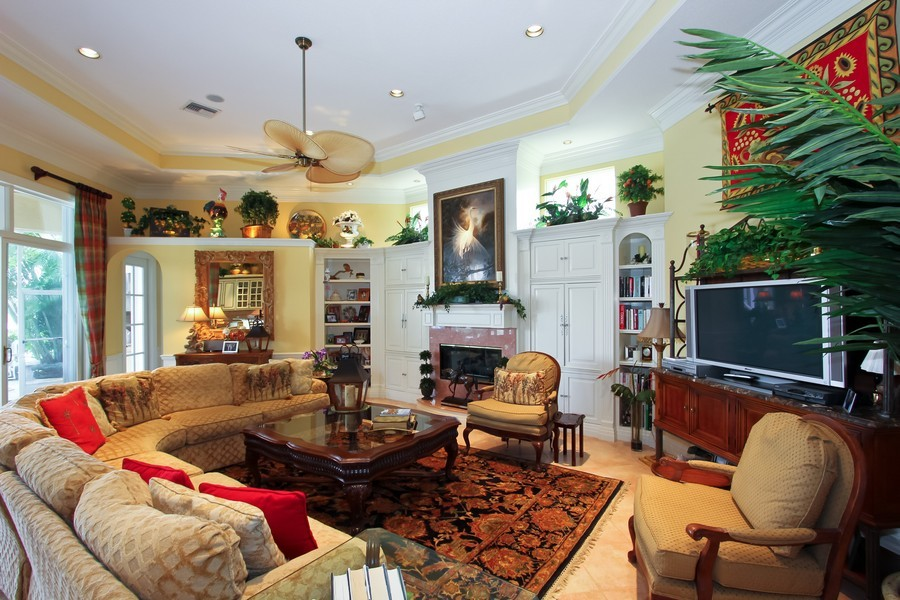 Real Estate Photography - 8533 Egret Meadow Ln, West Palm Beach, FL, 33412 - Family Room