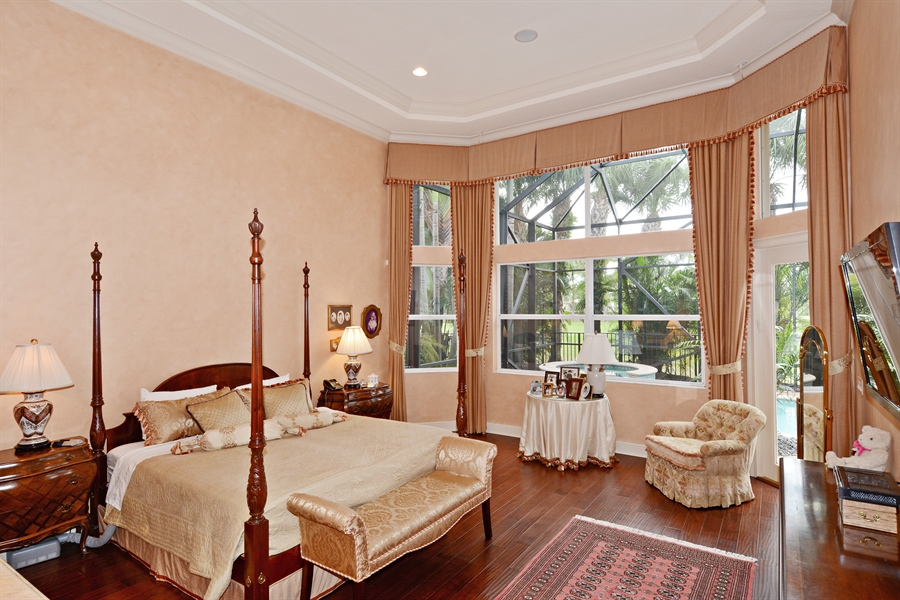 Real Estate Photography - 417 Savoie Dr, Palm Beach Gardens, FL, 33418 - Master Bedroom