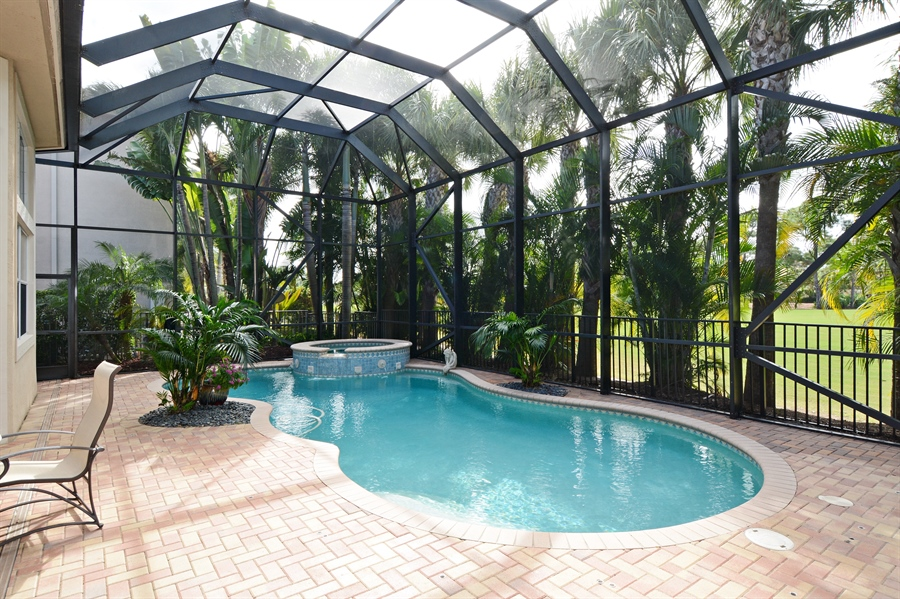 Real Estate Photography - 417 Savoie Dr, Palm Beach Gardens, FL, 33418 - Pool