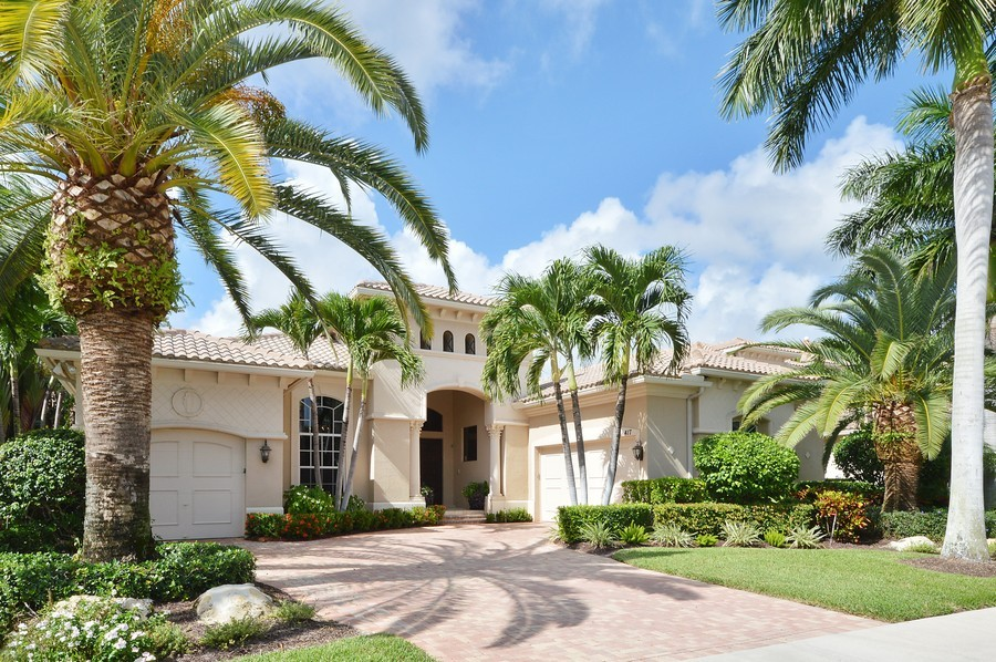 Real Estate Photography - 417 Savoie Dr, Palm Beach Gardens, FL, 33418 - Front View
