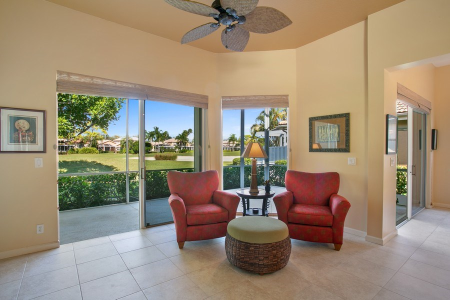Real Estate Photography - 8377 Quail Meadow Way, West Palm Beach, FL, 33412 - Sitting Room