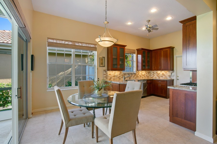 Real Estate Photography - 8377 Quail Meadow Way, West Palm Beach, FL, 33412 - Dining Area