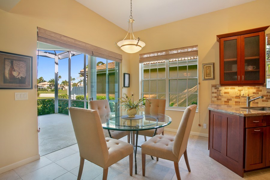 Real Estate Photography - 8377 Quail Meadow Way, West Palm Beach, FL, 33412 - Dining Area 2