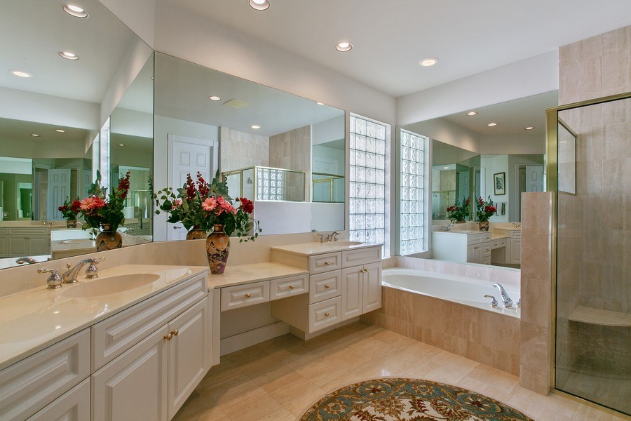Real Estate Photography - 8990 Lakes Blvd, West Palm Beach, FL, 33412 - Master Bathroom