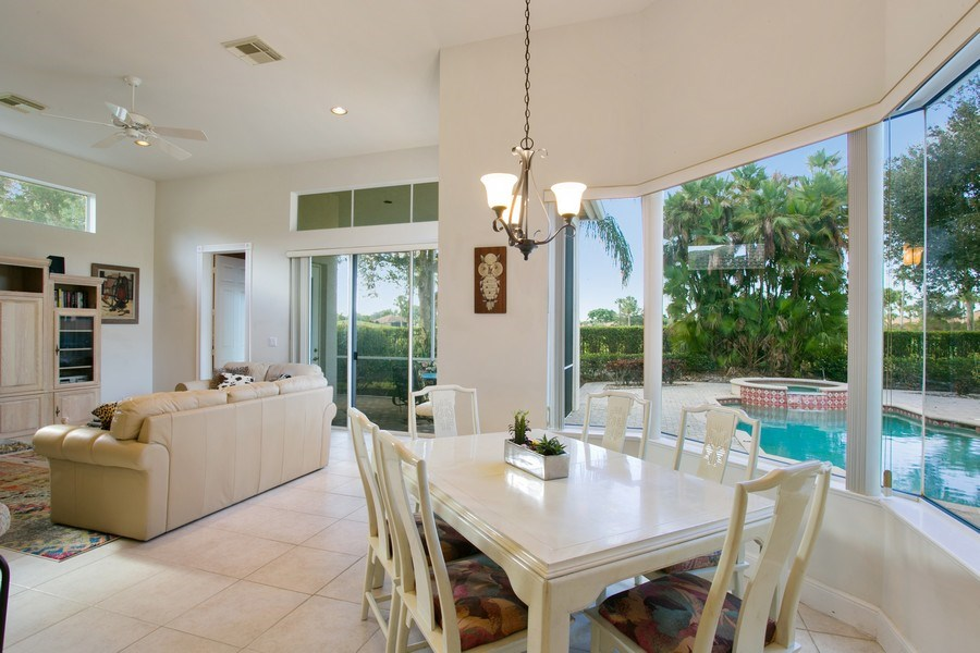Real Estate Photography - 8990 Lakes Blvd, West Palm Beach, FL, 33412 - Breakfast Area