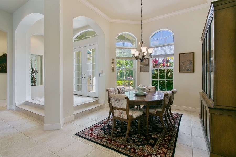Real Estate Photography - 8990 Lakes Blvd, West Palm Beach, FL, 33412 - Dining Room