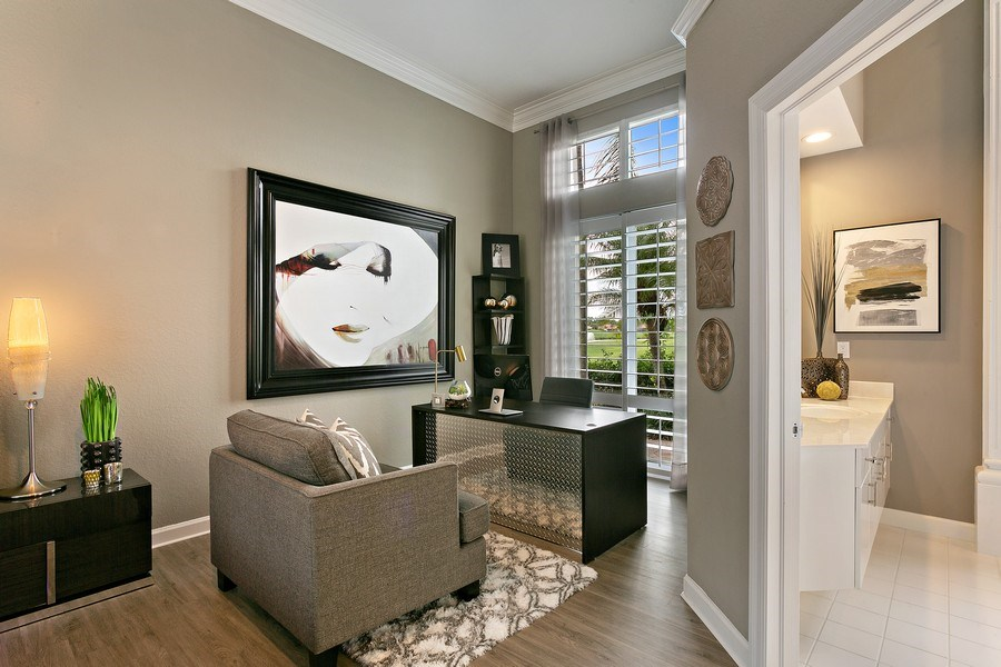 Real Estate Photography - 8660 Falcon Green Drive, West Palm Beach, FL, 33412 - Master Bedroom (Sitting Area / Office)
