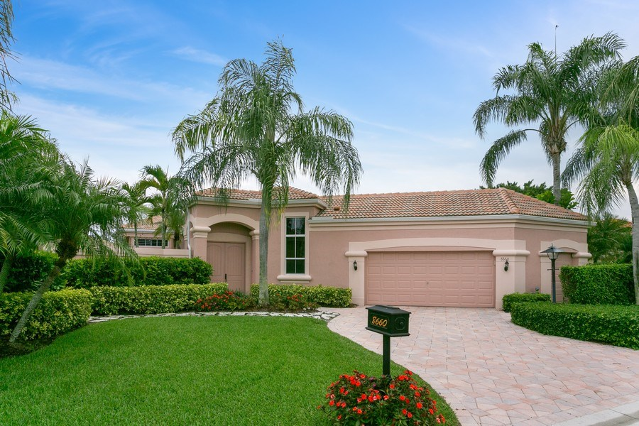 Real Estate Photography - 8660 Falcon Green Drive, West Palm Beach, FL, 33412 - Front View