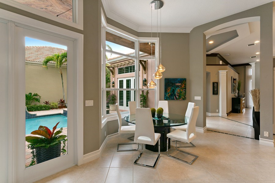 Real Estate Photography - 8660 Falcon Green Drive, West Palm Beach, FL, 33412 - Breakfast Area