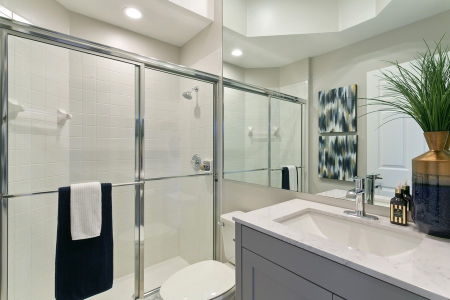 Real Estate Photography - 8660 Falcon Green Drive, West Palm Beach, FL, 33412 - Guest Bathroom (3rd)