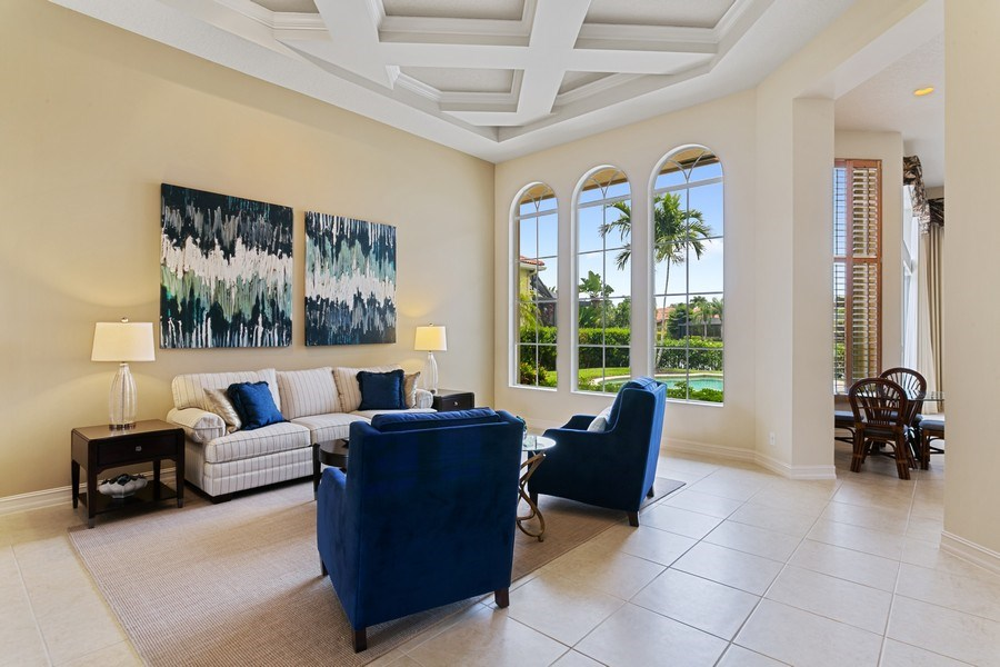 Real Estate Photography - 7101 Tradition Cove Lane East, West Palm Beach, FL, 33412 - Living Room
