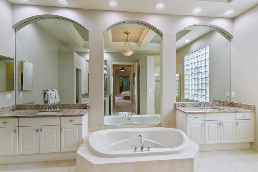 Real Estate Photography - 7101 Tradition Cove Lane East, West Palm Beach, FL, 33412 - Master Bathroom