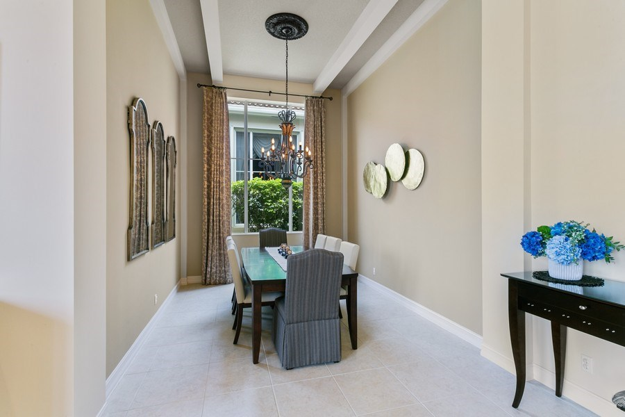 Real Estate Photography - 7101 Tradition Cove Lane East, West Palm Beach, FL, 33412 - Dining Room