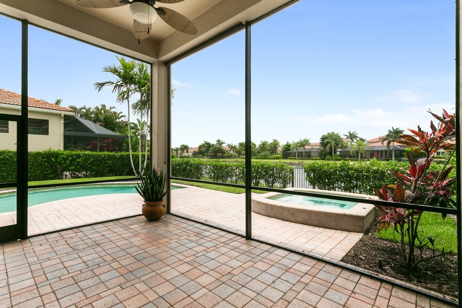 Real Estate Photography - 7101 Tradition Cove Lane East, West Palm Beach, FL, 33412 - Patio