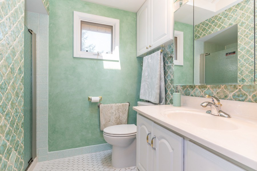 Real Estate Photography - 1714 W Stone Ave, Addison, IL, 60101 - Master Bathroom
