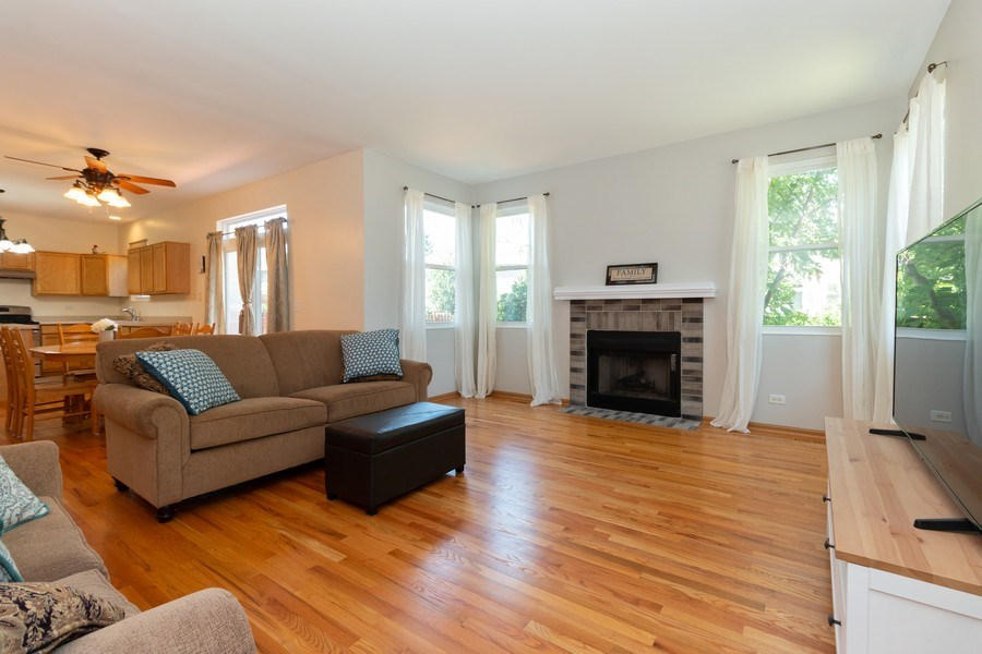 Real Estate Photography - 12214 Shagbark Drive, Plainfield, IL, 60585 - Family Room