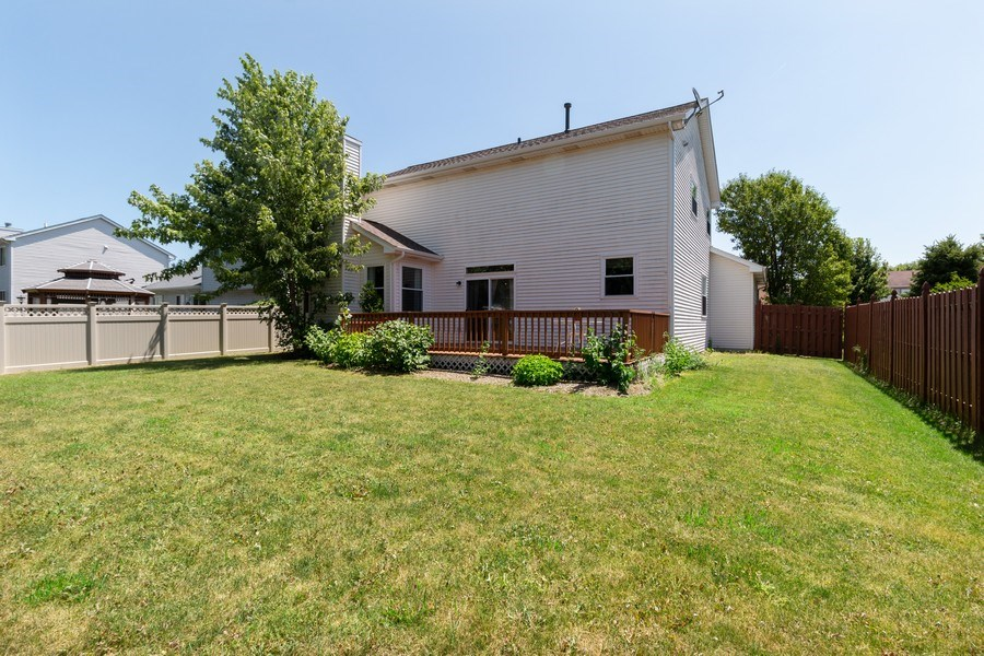 Real Estate Photography - 12214 Shagbark Drive, Plainfield, IL, 60585 - Rear View