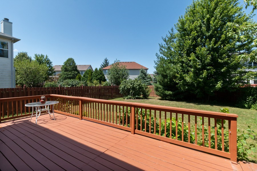 Real Estate Photography - 12214 Shagbark Drive, Plainfield, IL, 60585 - Deck