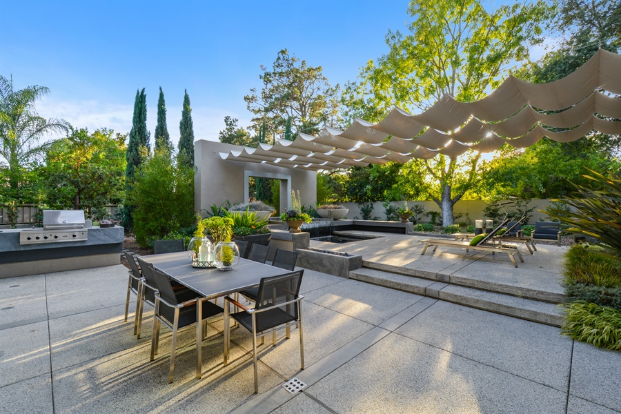 Real Estate Photography - 641 Estates Dr, Sacramento, CA, 95864 - V - Built-in BBQ Area with 2 Burners and Sink