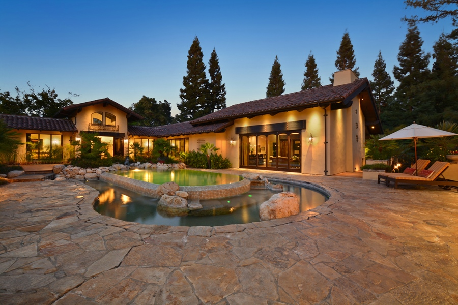 Real Estate Photography - 3771 Random Ln, Sacramento, CA, 95864 - Dramatic views of the 3-tier Pool
