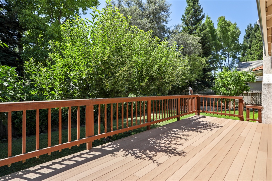 Real Estate Photography - 6896 Fallsbrook Ct, Granite Bay, CA, 95746 - Deck