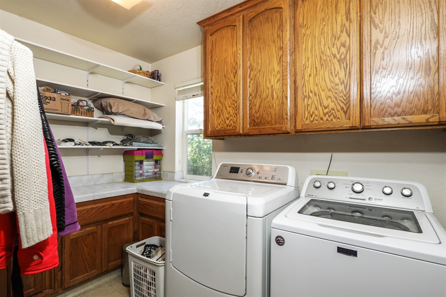 Real Estate Photography - 3838 Lariat Drive, Cameron Park, CA, 95682 - Laundry Room