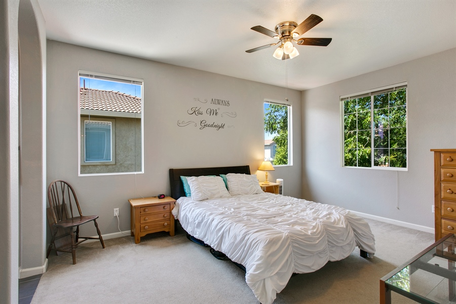 Real Estate Photography - 390 Dragonfly, Sacramento, CA, 95834 - Master Bedroom
