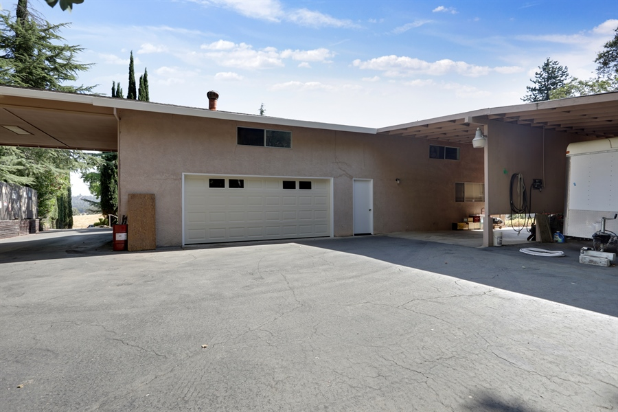 Real Estate Photography - 4554 4562 French Creek Road, Shingle Springs, CA, 95682 - Two car garage and large carport at rear of main h