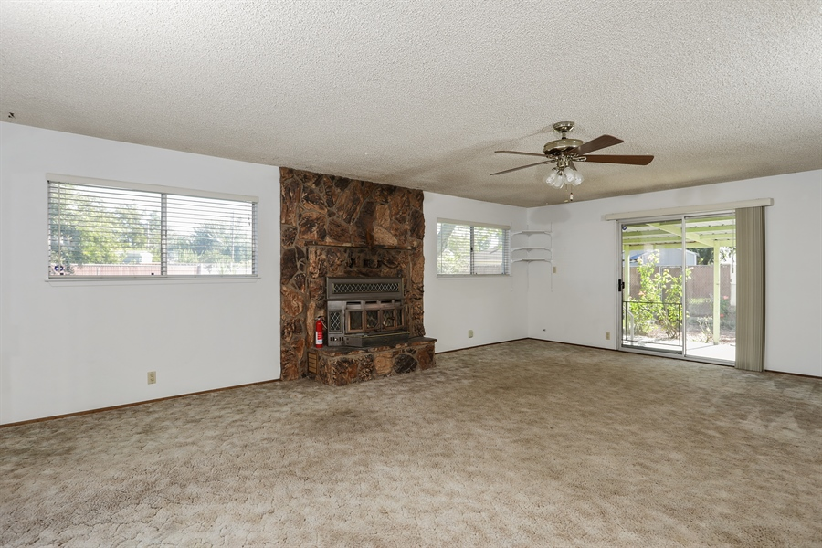 Real Estate Photography - 5724 Tell Ct., North Highlands, CA, 95660 - Living Room